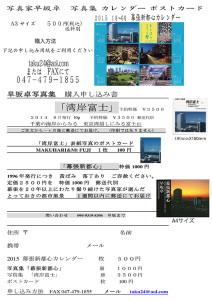 写真集カレンダー2015 s小